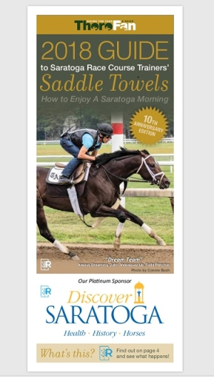 GUIDE TO SARATOGA RACE COURSE TRAINERS' SADDLE TOWELS GOING DIGITAL FOR 2020
